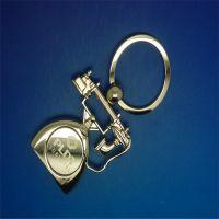 高档金属钥匙扣挂件,电镀复古电话模型钥匙扣,钥匙扣可定制LOGO