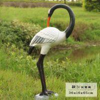 仿真树脂白鹭摆件花园林工艺品假山水池雕塑动物庭院装饰仙鹤摆件