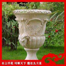石雕花钵厂家 大量现货出售 小型花钵