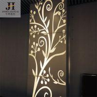 今.美斯顿 咖啡色木纹花格 广东铝方通厂家直销 物美价廉 仿古雕花铝单板天花吊顶