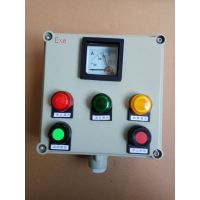 温州防爆操作柱厂家 两灯两钮一转换操作箱尺寸 化工厂专用操作柱型号