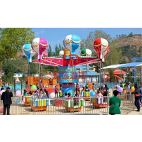 郑州宏德游乐大型户外热销游乐设备桑巴气球旋转摇头升降亲子互动游艺机逍遥水母