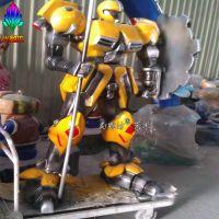 尚雕坊现货供应变形金刚4小黄蜂大型机器人 楼盘影院开业人气摆件