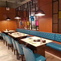 深圳餐饮连锁加盟店桌椅简约现代自助餐厅火锅桌烧烤桌子椅子图片可定做