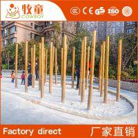 供应游乐设施木桩森林 户外儿童玩具木桩森林厂家定制