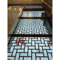 德普龙专业制造传统深木纹色铝窗花厂家优质排名!