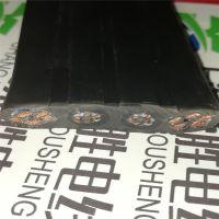 扁柔性扁平随行电缆带双钢丝高强度抗拉TVVBG3/4/5芯电梯扁形控制线