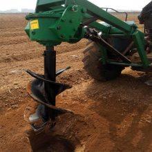 河北四轮拖拉机挖坑机 大型植树挖坑机 便携式立柱打坑机