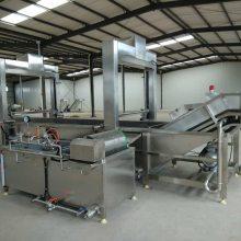 蒸汽漂烫机 蔬菜漂烫生产线 海鲜漂烫机