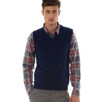 男士羊绒衫背心加工 贴牌或工厂自有品牌加工生产纯羊绒针织马甲