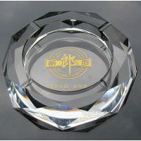 昆明塑料烟灰缸定做印logo 昆明礼品水晶烟灰缸