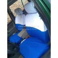 厂家定做批发 出租车座套 的士广告座套 蓝白色汽车印字椅套