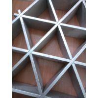 餐厅装修三角形铝格栅吊顶