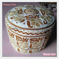 新花型手工刺绣阿曼帽 Senior boutique Oman hat / 刺绣阿曼帽