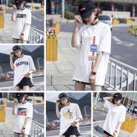 广州沙河便宜女装T恤韩版半袖时尚库存服装女士短袖清货地摊货批发
