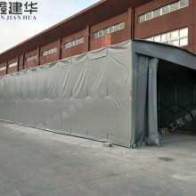 湖州市安吉县鑫建华生产挡雨推拉仓库帐篷、遮阳排档雨棚布、移动汽车车棚厂家