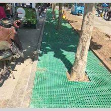 【精品格栅】绿色玻璃钢格网护树板格栅厂价直销【华强】