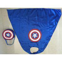 热销节目表演发光服装披风儿童男女超人美国队长蝙蝠侠蜘蛛侠斗篷钢铁