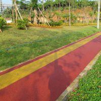 品石C25彩色透水地坪 海南山路透水地坪跑道案例