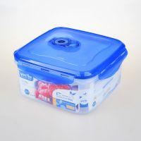 厂家直销380悠悦正方形加大真空盒(B) 厨房密封塑料收纳盒 防潮乐扣款真空盒 可微波冷冻密封保鲜盒