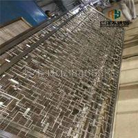 深圳201/316拉丝玫瑰金六角形不锈钢屏风隔断 菱形不锈钢屏风隔断 来图定制