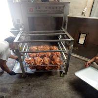 小型熟食店门头房专用熏鸡炉设备,半自动省人工的红肠熏蒸炉功能简介