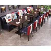 倍斯特美式乡村复古工业风实木餐桌创意西餐厅火锅店厂家定做