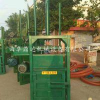 10吨单相电立式废纸液压打包机 塑料|易拉罐单电机打包机 鼎达供应