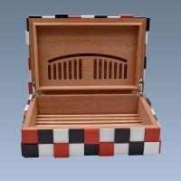 伟龙鑫定制 高档天然木材内衬西打木雪茄保湿盒彩色魔方礼品盒