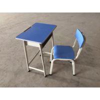 现货广州实木学生课桌椅单人固定学校学习桌椅