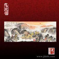 陶瓷山水瓷板画 厂家定制大型壁画