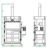 全自动打包机价格 立式液压打包机哪个牌子好 青贮压块机图片山东思路液压机械厂