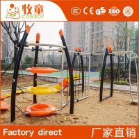河南定制小区幼儿园户外游乐设施攀爬架爬网钻洞组合厂家