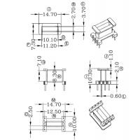 EE10加宽变压器骨架 直插 立式4+4 有配套磁芯销售 价格实在