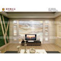 德艺雕艺术背景墙,奢华盛饰瓷砖电视墙