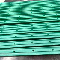 按图定做12A双排绿色导轨 食品蔬果用耐磨轨道 聚乙烯滑块