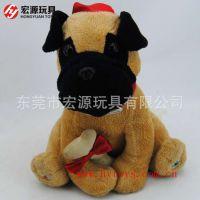可爱动物填充毛绒玩具狗狗公仔厂家直销定制
