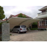 厂家定制pvdf膜结构车棚小区户外汽车遮阳棚别墅区膜结构停车棚
