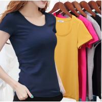 广州2块钱T恤批发厂家纯棉t恤韩版女式短袖清货夏季服装批发地摊货源