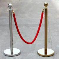 不锈钢一米线挂绳 金色一米线挂绳隔离栏 沈阳现货挂绳栏杆