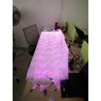 现货供应发光面料 特殊的光纤材质布料 高科技功能性面料夜光布料