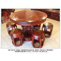 惠森古建定制古典中式实木成套餐桌椅