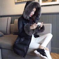 2017冬季韩版新款真银狐领主推长款羽绒服女