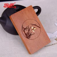 新款酸枝木镶嵌铜片创意名片夹 木质名片盒可定制红木中国风礼品