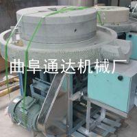 高粱电动石磨机厂家零售 通达 全麦面粉加工机器 小麦专用石磨机