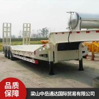 乌鲁木齐建安伟业工程机械专用低平板挂车加工定制厂家价格