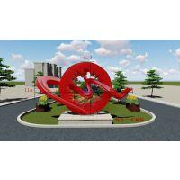 公司建筑景观企业雕塑丝带彩色 不锈钢雕塑