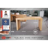 供应苹果木纹体验台中岛体验桌制作时间