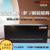 微智体数字解码矩阵会议主机16屏H264单屏16分割视频监控服务器