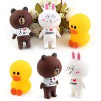 厂家直销布朗熊可妮兔玩具玩偶烘焙蛋糕装饰搪胶卡通公仔娃娃